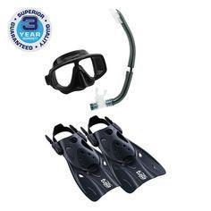 Tusa Sport Adult Pla Snorkeling Travel Set