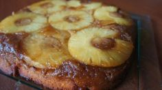 Pineapple Upside-Down Cake. Remember this from childhood. We used a yellow cake mix and made it in an electric fry pan.