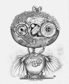 steampunk owl by ~winstonscreator on deviantART steampunk owl