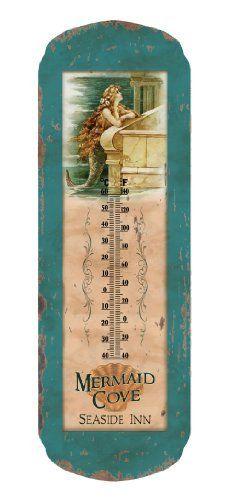 Vintage Mermaid Thermometer