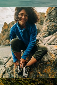 Our Aphrodite Pants facilitate a free range of motion that allow you to climb with ease. Hiking Pants, Two Faces, Never Stop Exploring, Black Models, Range Of Motion, Blue Ridge, Aphrodite, Quick Dry, Flexibility