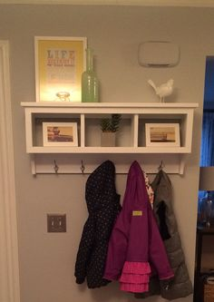JUST WHAT YOU NEEDED, THIS 3 BASKET COUNTRY SHELF HAS A DEEP TOP AS WELL AS 5 SATIN CHROME HOOKS FOR TOWELS, ROBES OR COATS SHOULD YOU PUT IT