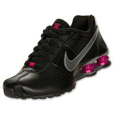 Women's Nike Shox Classic 2 Running Shoes | FinishLine.com | Black/Metallic/Cool Grey/Sport Fuchsia