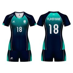 Download Free PSD Mockup Women s Volleyball Kit with V-Neck Jersey ...