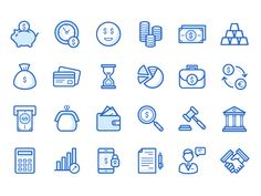 Bank & Finance Icons Set designed by Alina Shipulina. Connect with them on Dribbble; Finance Bank, Personal Finance, App Design, Icon Design, Mobile Design, Design Layouts, Flat Design, Banks Icon, Apps