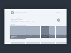 Wireframes - android tv practices by mialszygrosz