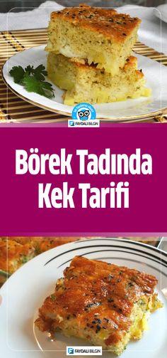 Börek Tadında Kek Tarifi #börek #kek #yemek #yemektarifi #yemektarifleri #yemekler #tarif #tarifdefteri #tarifler #kolay #evyapımı #bilgi #pratik #fikir #mutfak #idea #ideas #like #lifestyle #fresh #kitchen #recipe #recipes #cookie #cook #dinner #food @faydalibilgin Lasagna, Tart, Pie, Ethnic Recipes, Kitchen, Recipe Recipe, Food, Youtube, Kitchens