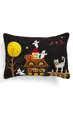 New World Arts 'Haunted House' Halloween Accent Pillow available at #Nordstrom