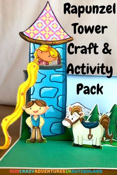 Young learners will read aloud, complete vocabulary, anagram activities and create a wonderful 3D pop-up scene of Rapunzel in the tower. #autismland #Rapunzel #reading #montessori #handson #homeschool #earlychildhood #playislearning #homeschool #homeschoolingautism via @pennyrogers Gross Motor Activities, Fun Activities For Kids, Hands On Activities, Preschool Activities, Creative Arts And Crafts, Crafts To Do, Episodic Memory, Brothers Grimm Fairy Tales, Kids Scissors