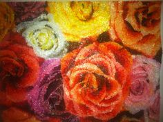 Mother's Day . Flowers. 8x10 over 8,000 beads.