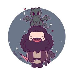 Hagrid, Norbert and Fang Fanart Harry Potter, Harry Potter World, Harry Potter Disney, Cute Harry Potter, Theme Harry Potter, Harry Potter Wallpaper, Harry Potter Characters, Harry Potter Universal, Harry Potter Memes