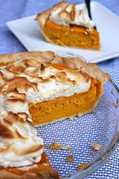 Paleo Sweet Potato Meringue Pie #paleo #dessert