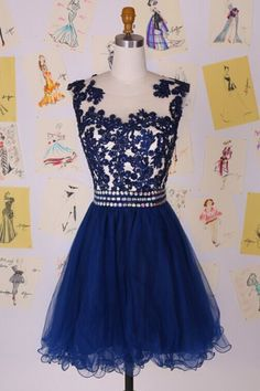 Elegant Illusion Cap Sleeve Short Cocktail Dress With Appliques Beadings_Homecoming Dresses_Special Occasion Dresses_Cheap Dresses Online: Wholesale Wedding Dresses, Special Occasion Dresses from China Factory | 27Dress.com