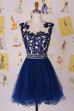 royal blue homecoming dress