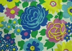 Items similar to Vintage Super Bold Floral Mums Roses Blue Turquoise Yellow Green Magenta 2 yards on Etsy Retro Styles, Perfect Pillow, Surface Pattern Design, Repeating Patterns, Vintage Love, Textures Patterns, Magenta, Yards, Retro Fashion