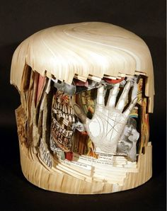 Brian Dettmer, 2008, Libraries of Health (altered book art)