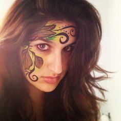 Leaf face paint