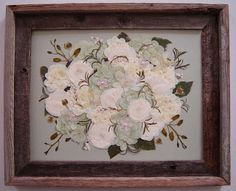 The Pressed Garden Bridal Bouquet Preserved And Vacuum Sealed In A Barnwood Frame