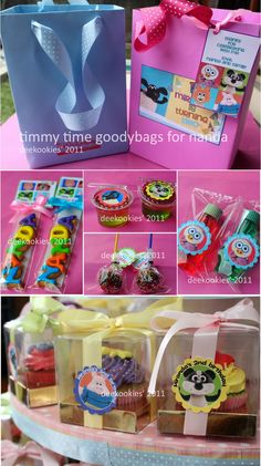 deekookies: timmy time cupcakes and goodybags#