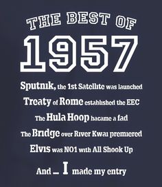 The Best of 1957 - 60th Birthday T Shirt for Women