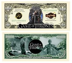 FREE SLEEVE Rubber Ducky Million Dollar Bill Fake Play Funny Money Novelty Note
