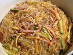 Very popular vermicelli salad at the party by Roederer 【Cook pad】 Easy delicious delicious recipe million dishes Dairy Free Recipes, Veggie Recipes, Asian Recipes, Gourmet Recipes, Cooking Recipes, Healthy Recipes, Ethnic Recipes, Healthy Menu, Healthy Eating