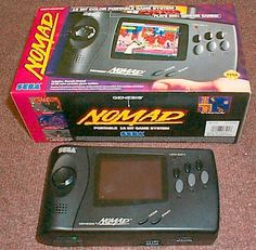 The Sega Nomad... a portable Sega Genesis that played Genesis cartridges on the go. You had to make sure you had the A/C adapter... battery life was ridiculous. Still.. a nice piece of nostalgia.