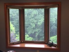 Bay Window Exterior, Balcony Window, Focal Wall, Home Upgrades, Windows And Doors, Bow Windows, Cabinet Doors, Interior And Exterior, Sweet Home