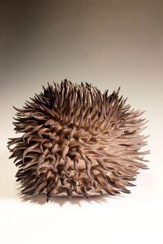 "Danielle Wood, ""Spiral Undulation"" Contemporary Artwork, Contemporary Artists, Danielle Wood, Rock Flowers, Crystal Tree, Organic Form, Urban Art, Ceramic Art, Sculpture Art"