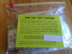 field trip chaperone package