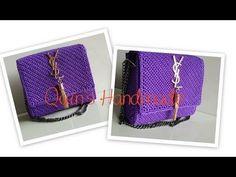 Crochet Chart, Crochet Lace, Crochet Cardigan Pattern, Crochet Patterns, Clutch Purse, Coin Purse, Ysl Bag, Craft Bags, Crochet Handbags