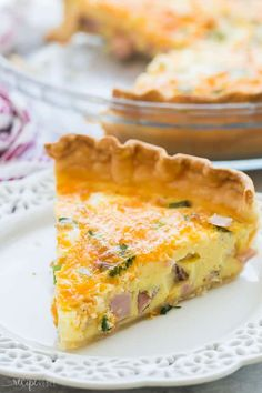 Breakfast Quiche Recipe With Ham.Slow Cooker Easy Quiche Recipe A Spicy Perspective. Breakfast Quiche Recipe Taste Of Home. 10 Best Quiche Recipes You Can Make For Breakfast Lunch . Home and Family Quiche Recipe Without Crust, Basic Quiche Recipe, Quiche Recipes, Tart Recipes, Keto Recipes, Ham Quiche, Ham And Cheese Quiche, Breakfast Quiche, Breakfast Recipes
