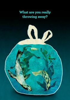 "There is NO ""away""….wherever you throw it, it is the Earth, our one and on… – Mika FEF - Responsible Mother Earth, Sketch Book, Poster Art, Art, Environment, Environmental Art"
