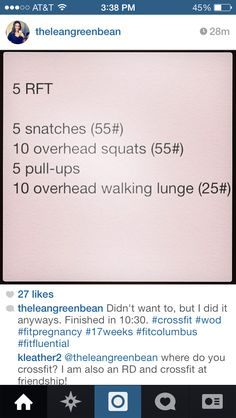 Crossfit Wod: snatches, overhead squats, pullups, lunges.