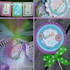 Cupcakes and Lollipops Birthday Party Ideas: The sweetest way to celebrate your little lady - cupcakes and lollipops!