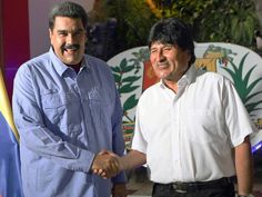 """Bolivian President Evo Morales made a brief visit to Venezuela on the weekend during which he reiterated support for his embattled ally, Nicolas Maduro, state media reported.  During the visit, made late Saturday, Morales expressed """"all our solidarity, all the support of the Bolivian people"""""""