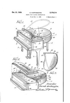 Patent US2178214 - Grand piano casing construction - Google Patents