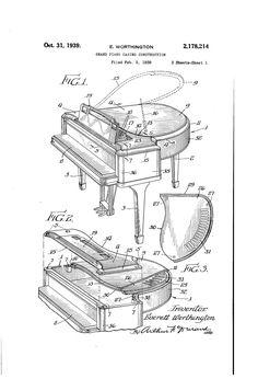 Patent US2178214 - Grand piano casing construction - Google Patents