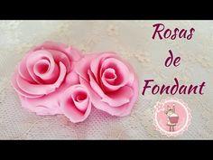Tutorial - Como hacer rosas de fondant - YouTube