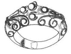 Slavic iron and golden ring from Nezenna (end of 9.c. - first half of 10.c.)