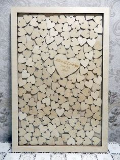 Large DROP BOX style wedding guest book, Guest book of the wood,alternative books wishes with hearts, personalized guest book, drop box