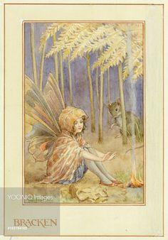 'Bracken Fairy' - Illustration from the book 'The Heath Fairies' Margaret Tarrant