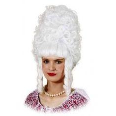 white dame wig
