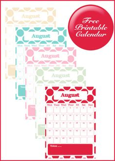 Free Printable August Calendar    Thank you!!!  If you love my printables I would love it if you would vote for me in the Top Mom Blogs http://www.circleofmoms.com/blogger/lovely-living?blogroll_id=76    Thank you xx