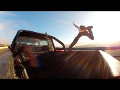 Crazy and insane daredevil Sebastian Alvarez base jumps from the moving pickup truck. Funny Sports Videos, Base Jumping, Sports Humor, Pickup Trucks, Pick Up, Earth, Bridge, Projects, Bridge Pattern