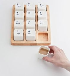 Keyboard Coffee Cups by Shanghai designer E Square, inspired by the Apple computer keyboard