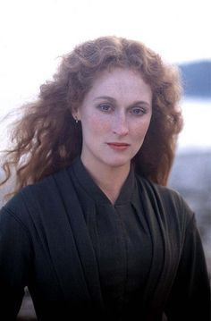 "Meryl.  She looks like she's in a Renaissance painting.  This was probably from ""The French Lieutenant's Woman,"" but I'm not sure."