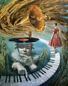 """""""Sounding Silence"""" - giclee by ©Michael Cheval - www.rogeryostgallery.com/fine-art/michael-cheval/sounding-silence.htm"""