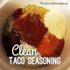 Super Easy Clean Taco Seasoning