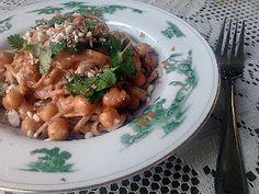 Thai Chickpea Pasta, based on a chicken dish.